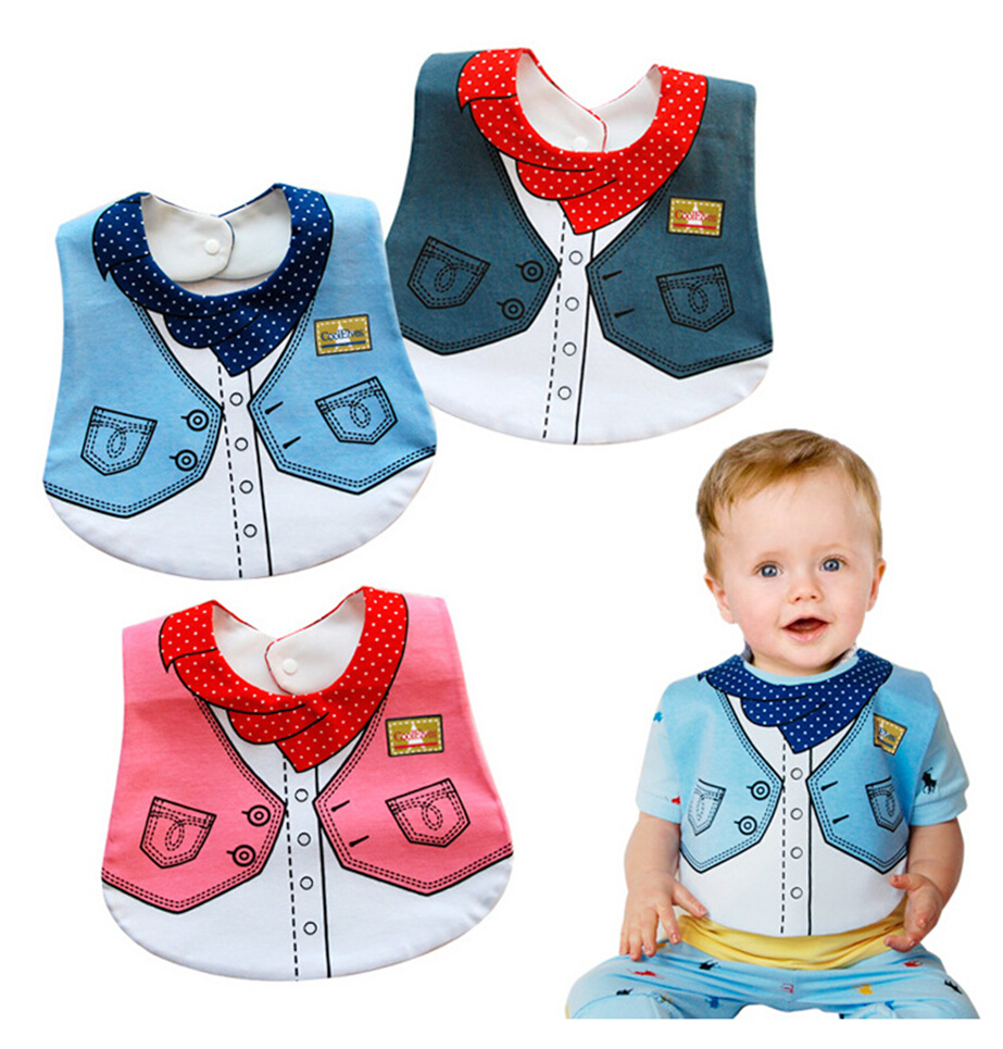 Waterproof Bibs Burp Cloths Baby Feeding Cloth Bib Fashion Apron Bibs for Babies Cotton Baby Infant Newborn Bibs Clothing 2016