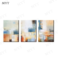 MYT 3 PCS 1 Set Abstract Handpaint Oil Painting By Artist Hand Painted Oil Painting On Canvas Wall Art Decor for Home Decoration