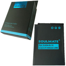 SOULMATE EN-EL12 lithium batteries pack EN EL12 For Nikon CoolPix S610 S610c S620 S630 S710 P310 P330 S6200 S6300 S9400 S9500