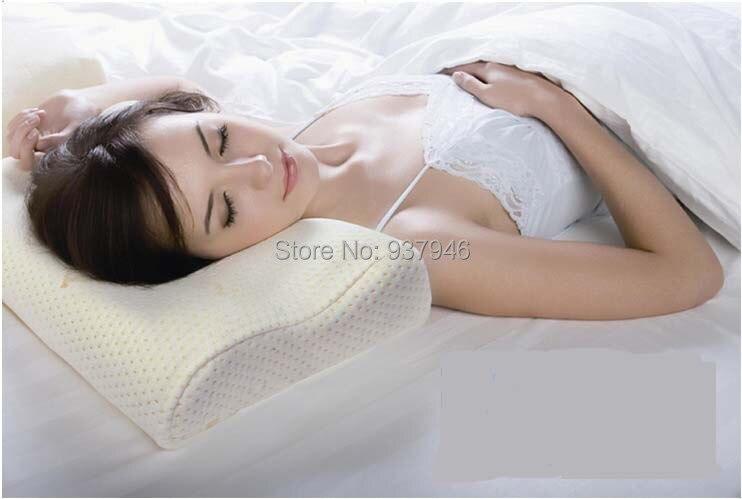 comfort memory foam orthopedic pillow concave neck rest pillow orthopedic 100 bamboo fiber travesseiro ortopedico
