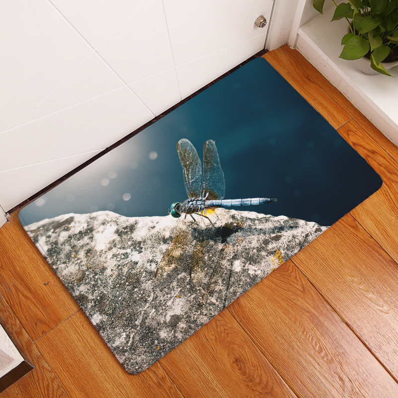 2017New HD Butterfly  Print  Carpets  Anti-Slip  Floor  Mat Outdoor - Home Textile