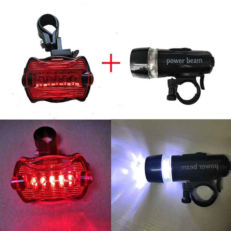LED Bicycle Front Head Light+Tail Light Set MTB Bike Lights Safety Bicycle Rear Light Bike Lamp Flashlight Cycling Accessories