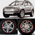 Carro-Styling Marca New Fibra De Carbono Da Asa Wheels Máscara Decalque Guarnição Para Chevrolet Captiva