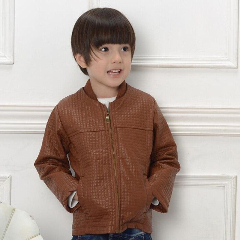 Online Shop High Quality Kids Jackets Children Zipper PU Leather ...