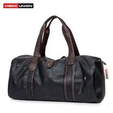 Магия союз бренд масло воск кожаные сумки для мужчин большой Ёмкость Портативный сумки на плечо Модные мужские дорожные сумки Упаковка