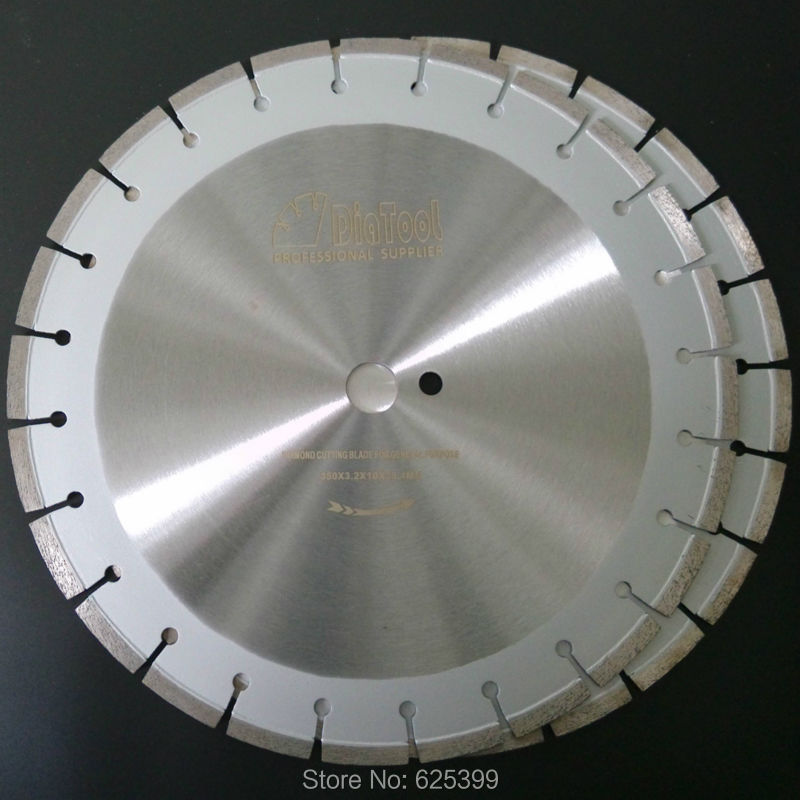DIATOOL 2pcs 14inch / 350MM Laser Welded Diamond Saw Blades For Cured Concrete Cutting Good Quality Road Saw blade no 1 twist plaster saws jewelry spiral teeth saw blades cutting blade for saw bow eight kinds of sizes 144 pcs bag