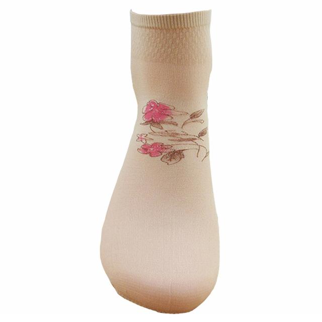 10 pairs Flower Print Short Socks