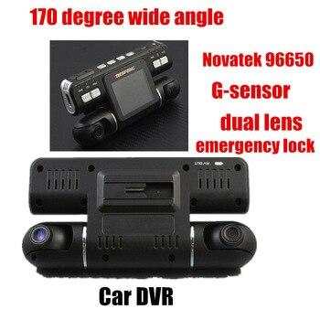 Big promotion Dual Lens Car DVR HD 170 Degree Wide Angle G-sensor Car Camera recorder Novatek96650