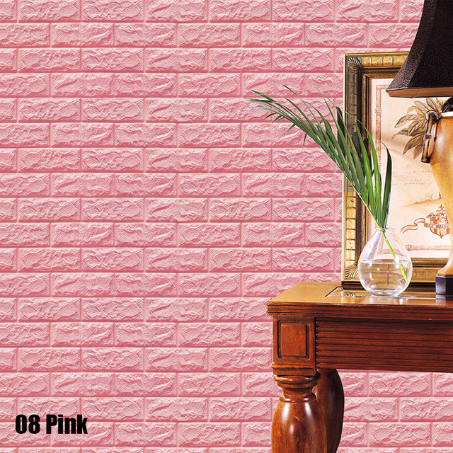 Online Shop New White 3D Brick Wall Paper Modern Vintage Brick Stone ...