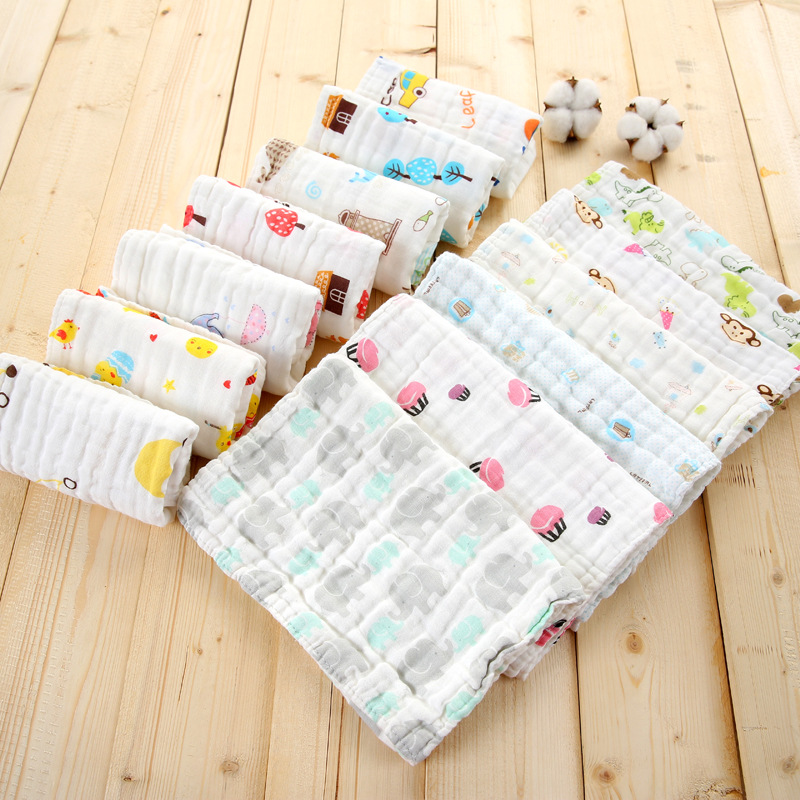 Fashion Car Bus Cartoon Cute Lovely Pattern Small Square Handkerchief Towel For Baby Newborn Kids Children FS0586