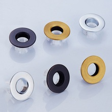 Vidric Bathroom Basin/Sink Overflow Cover,Round Brass Six-foot ring Bathroom Product Basin Tidy Insert Fitting 23mm round hole