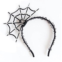 Halloween Cosplay Spider Hair Hoop-New Trendy Spiders Web Headband Headdress Hallowmas Party Gift Black#2