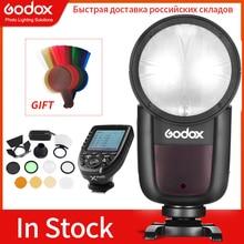 Godox V1 Flash V1C V1N V1S V1F V1O TTL 1/8000s HSS lityum pil Speedlite flaş Canon için nikon Sony Fuji Olympus