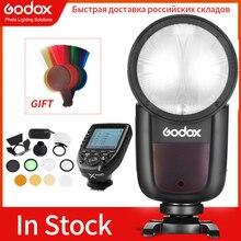 Godox flash v1 v1c v1n v1s v1f ttl 1/8000s hss bateria de lítio speedlite flash para canon nikon sony fuji olympus