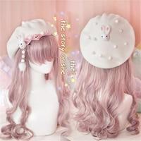 Sweet Lolita Cute Rabbit Venonat French Beret Japanese Handwork Women's Classic Wool Felt Painter Hat 4 Colors Girls