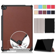 Flip Case for New Huawei M5 Lite10 Inch Tablet for MediaPad M5 Lite 10.1 BAH2-L09/W19 DL-AL09 Smart Stand Cover Case new printed pu leather magnetic smart stand case for huawei mediapad m5 8 4 sht al09 sht w09 tablet protective cover film stylus