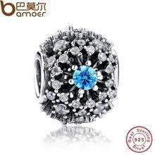100% Puro de Ley 925 de Plata Cinderella's Wish Pulseras Accesorios de La Joyería Cristal Azul Granos Del Encanto fit original PAS179