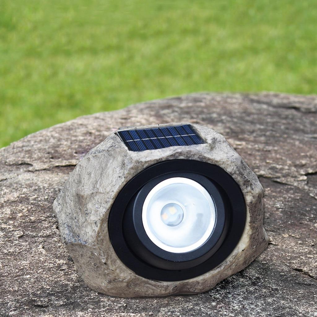 Grand LED de jardin extérieur solaire décoratif pierre de roche Spot lumières lampe Yard lumière solaire résine Polycry stallin panneau solaire