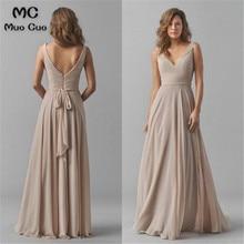 Винтажное платье подружки невесты свадебное платье с v-образным вырезом Плиссированное шифоновое платье без рукавов платье для выпускного подружки невесты для женщин