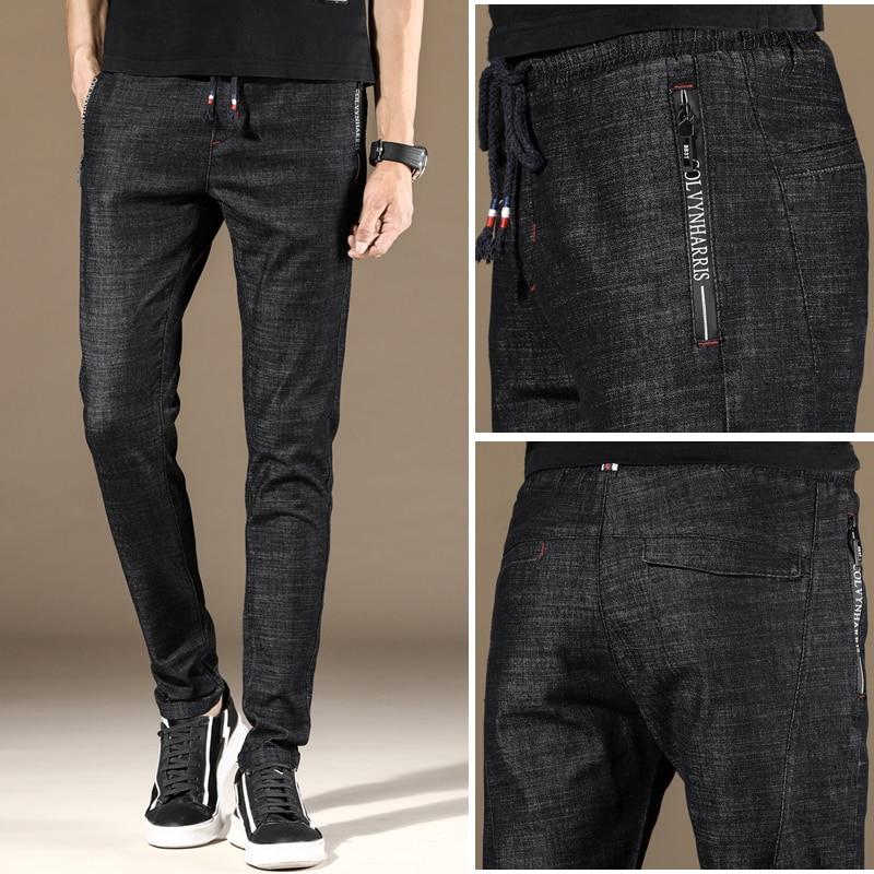 Men Male Jeans Skinny Streetwear Jean Homme Blue Black Men'S Masculino Denim Pants Slim Fit Casual Stretch Trousers
