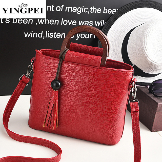 2016 Fashion Women Bucket Bag Vintage Tassel Messenger Bag Large Retro Shoulder Handbag Simple Crossbody Bags Gifts for ladies