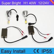 Hot Sale Japanese Beam 40W H1 6000K 8000K  LED Headlight For Car SUV Offroad 12V 24V