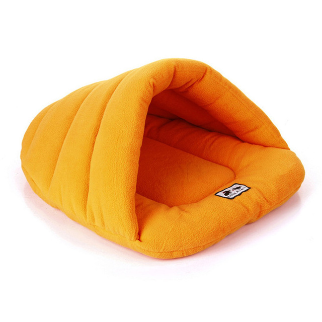 CANDY KENNEL Pet Dog Cat Bed Soft Fleece Warm Kennel Small Animals Bed House Pet Mats Puppy Sleeping Bag High Quality U0971