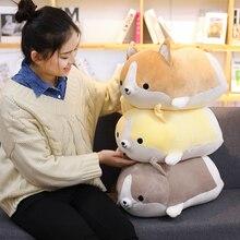 1pc 30-60cm Cute Corgi Dog Plush Toy Lovely Christmas Gift for Kids Stuffed Soft Animal Cartoon Pillow  Kawaii Valentine Present