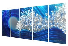 abstract metal wall art sculpture multi panel modern home decoration 379