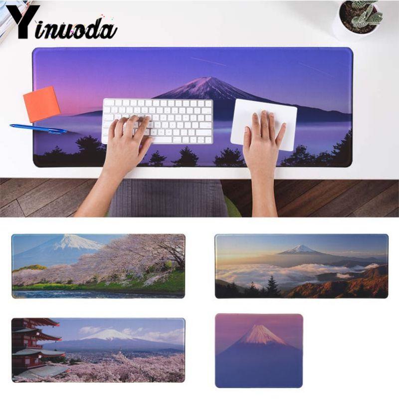 Yinuoda японский пейзаж горы fuji геймер Скорость мыши резиновый коврик Размеры для 30x90 см и 40x90 см игровые коврики