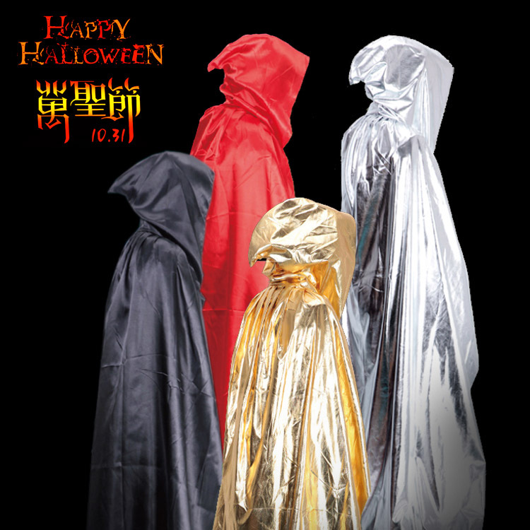 Adult Halloween Cosplay Costume Cape Cloak Vampire Ghost Wizard Cape Death Long Robe Gothic Medieval Renaissance Victorian Cloak