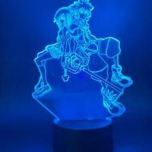 Game Kingdom Hearts Sora Kairi Figure 3d Led Night Light for Bedroom Decorative Nightlight Kids Child Cool Gift Table Lamp