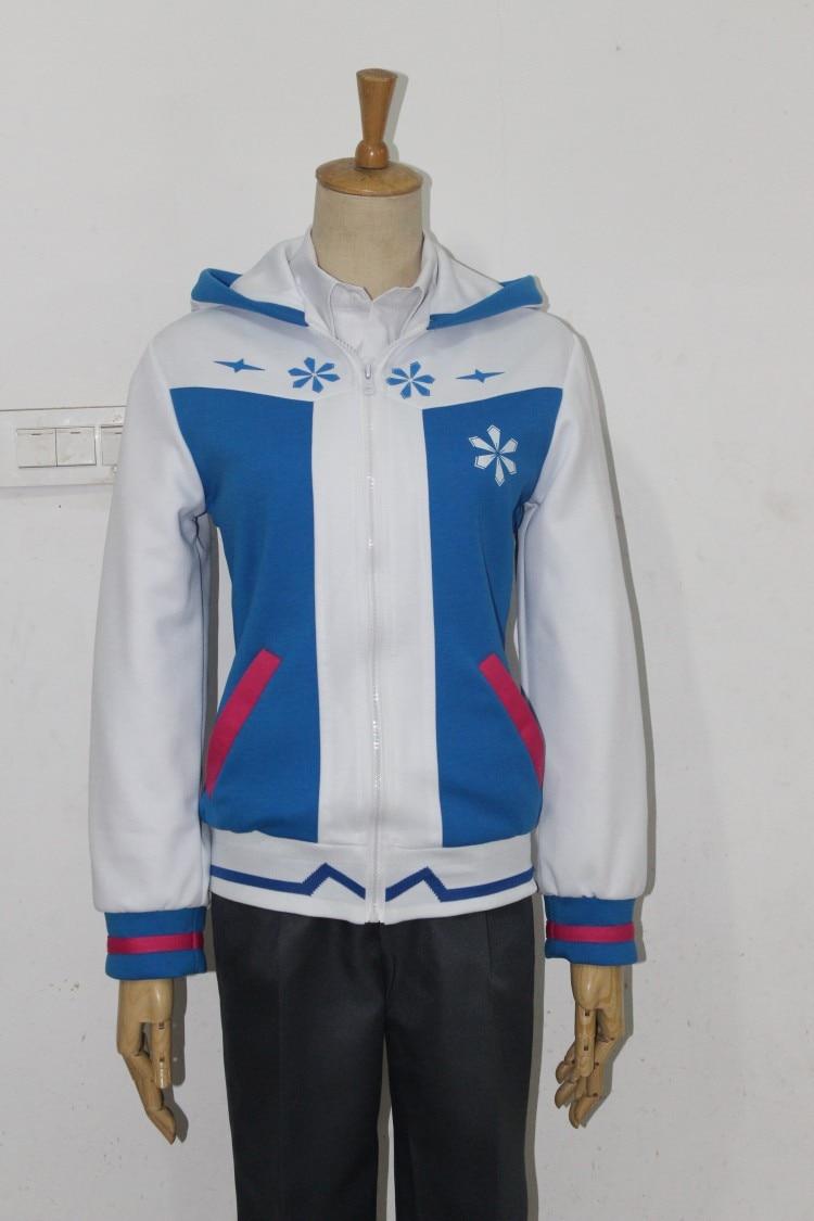 Japan anime lolita cosplay costume Hatsune miku Snow queen thermal parka Halloween women men lover jacket