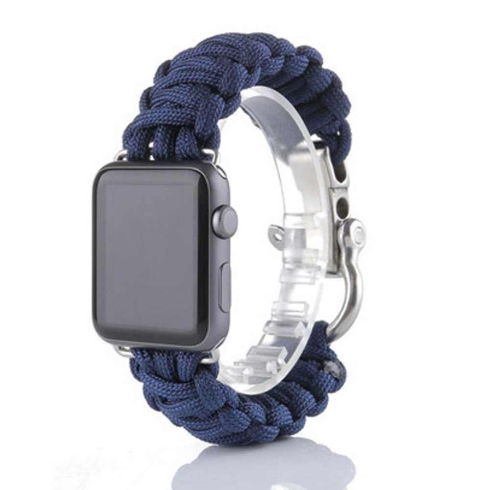 For Apple Watch Paracord Survival Bracelet 38/42/40/44mm Nylon Rope Survival Bracelet Watch Band for Apple Watch Series 5 4 3 2