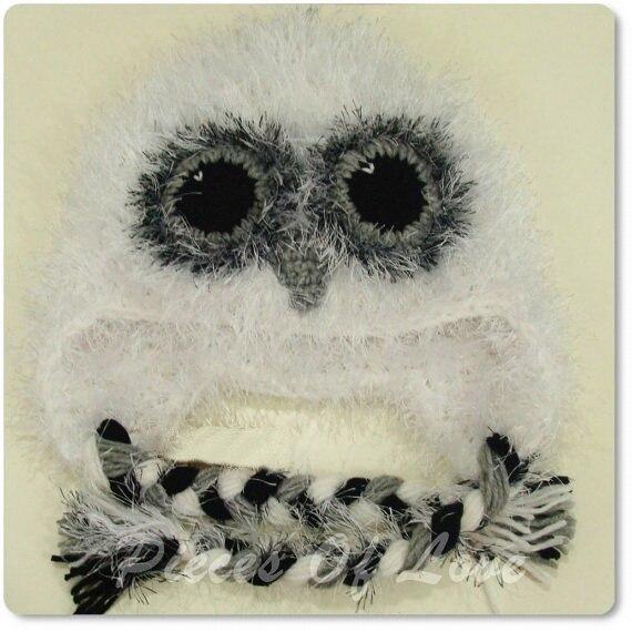 Envío Gratis bebé Crochet búho sombrero, Invierno mullido recién ...