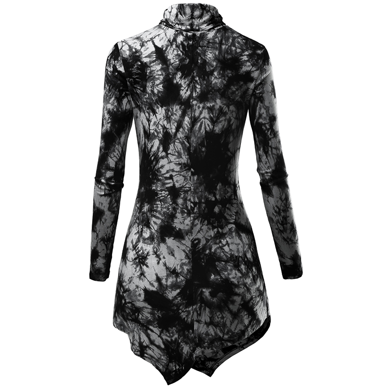 dda207851 EA Selection Women's T shirt Long Sleeve Turtleneck Plus Size Tunic Black  Casual Tie Dye Tops Irregular Hem Solid Color Soft-in T-Shirts from Women's  ...
