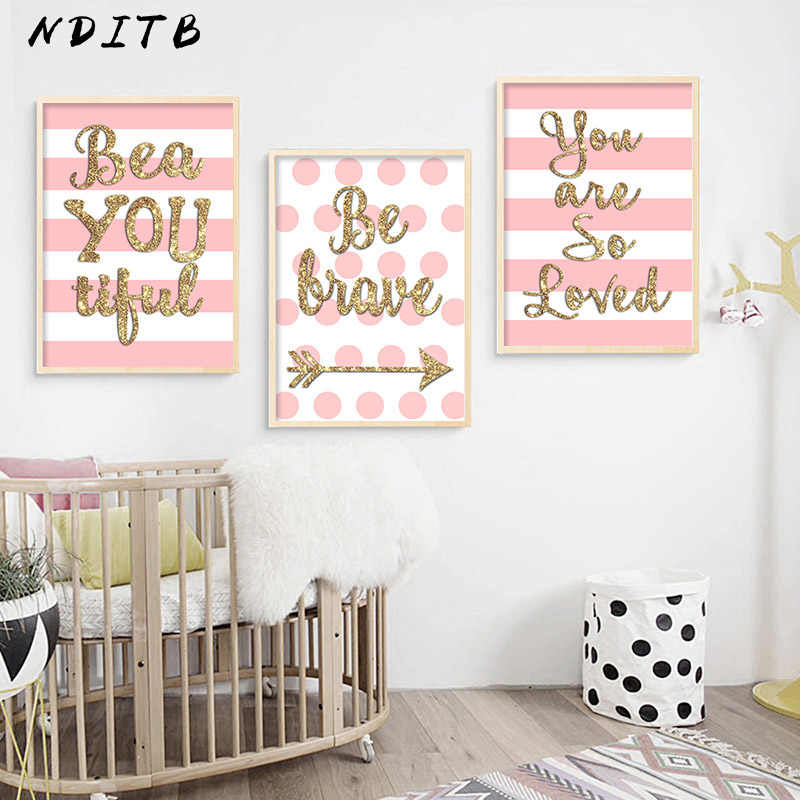 Nditb Baby S Nursery Wall Decor Poster Quotes Canvas Art Print Painting Nordic Decoration Picture For Living Room