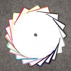 KR795-806 20 Цвета Для мужчин 100% хлопковый карман квадратный белый твердых платок полотенце для сундуков выпускного вечера для отдыха и