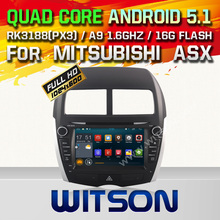 WITSON Android 5.1 CAR DVD RADIO for MITSUBISHI ASX Capacitive touch screen DVD GPS RADIO Cortex A9 dual-core1.6G 16GB Rom