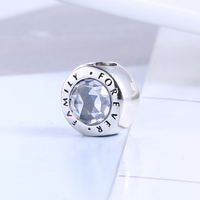 Authentic 100 925 Sterling Silver Family Forever Bead Fit Original Charm Beads For Pandora Bracelet Beads