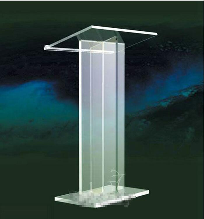 Free Shipping Acrylic Design Style Podium / Acceptable Acrylic Podium Logo Customize