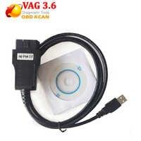 3.6 VAG K PUÒ Comandante 3.6 per au-di/V-W Strumento di Diagnostica cavo OBDII OBD2 Cabel Lettori di Codici strumenti di scansione con il cd del software