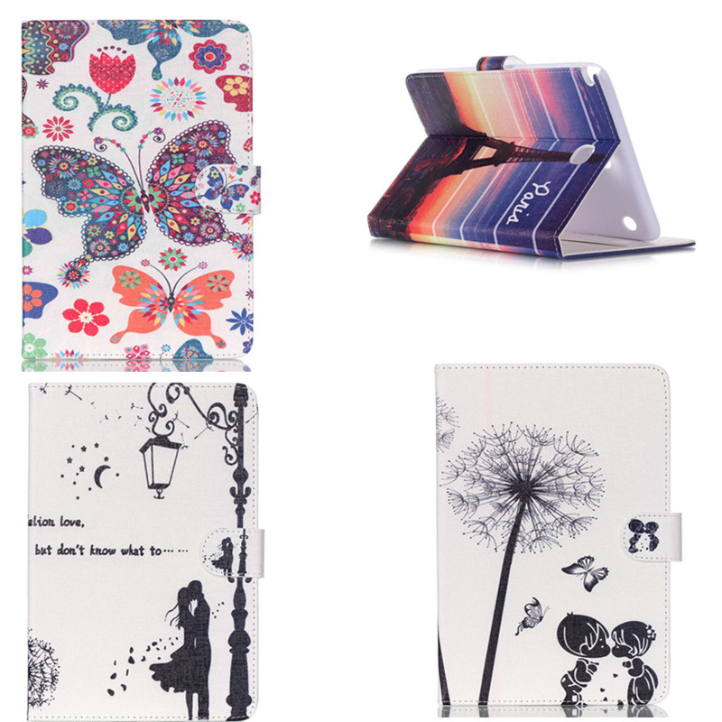 HX Dandelion flower Card Slot PU Leather stand holder Cover Case For Samsung Galaxy Tab A 8.0 T350 P355C p350 SM-T355 Tablet