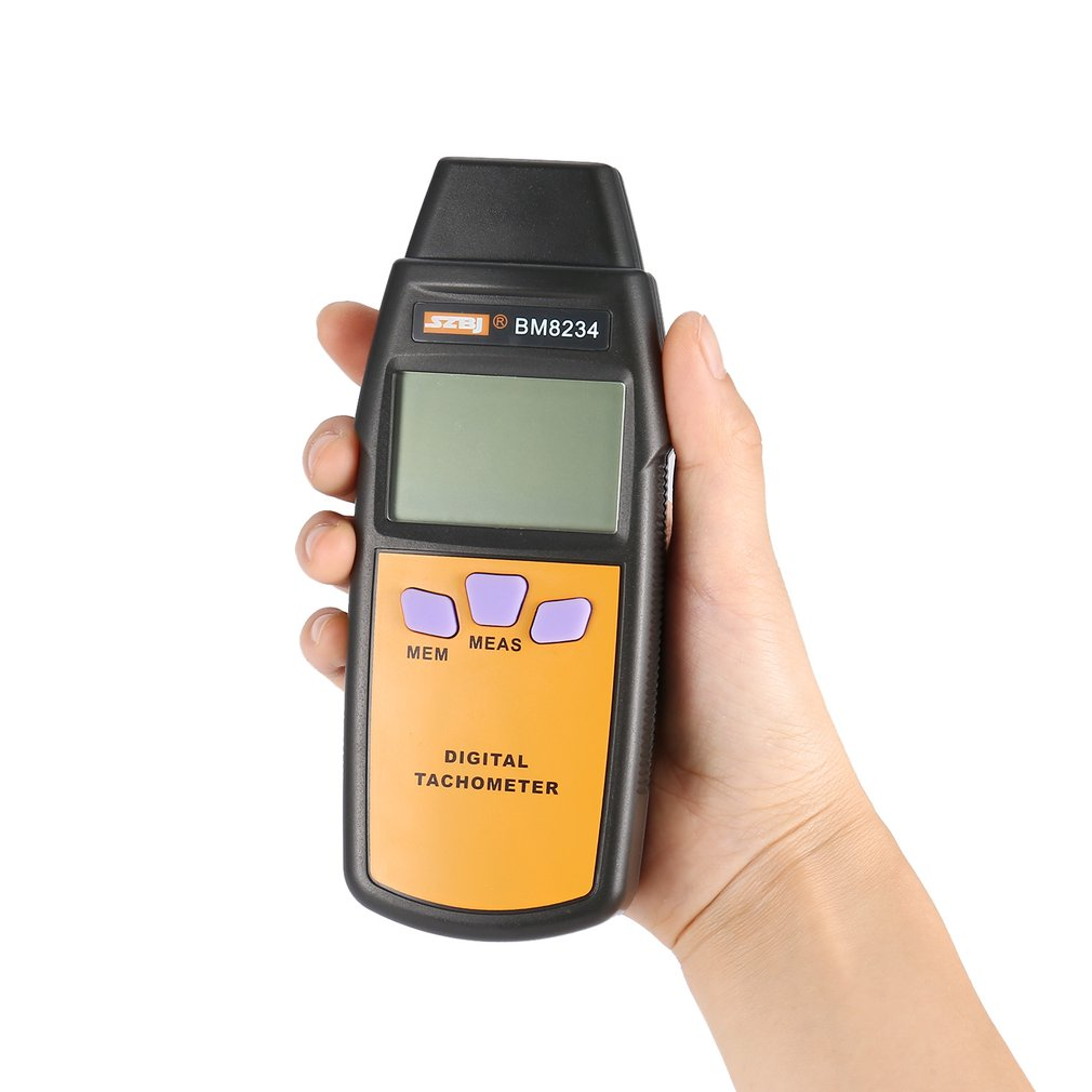 Digital Tachometer Photoelectricity Tachometer SZBJ BM8234 Universal Car Marine Handheld Tacho No Contact Tach Meter 99996RPM in Level Measuring Instruments from Tools