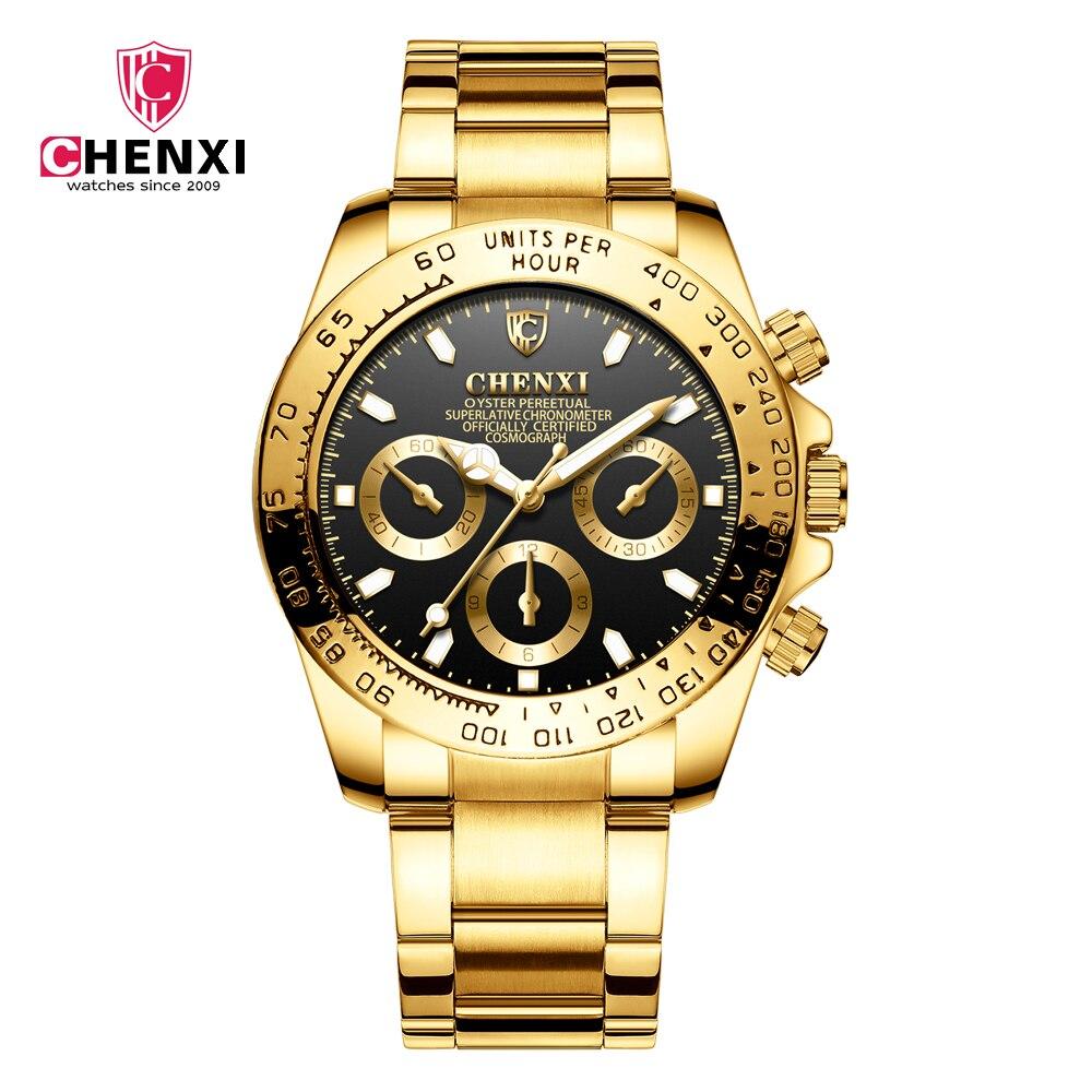Montre Hommes Sport Étanche Marque De Luxe de Quartz-Montre D'affaires De Mode Or Montres Homme Horloge Lumineux Relogio Masculino