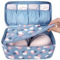 Almacenamiento a prueba de agua mujeres dama portátil de viaje Underwear Bra Lingerie organizador de los bolsos Makeup Cosmetic Toiletry Wash caso