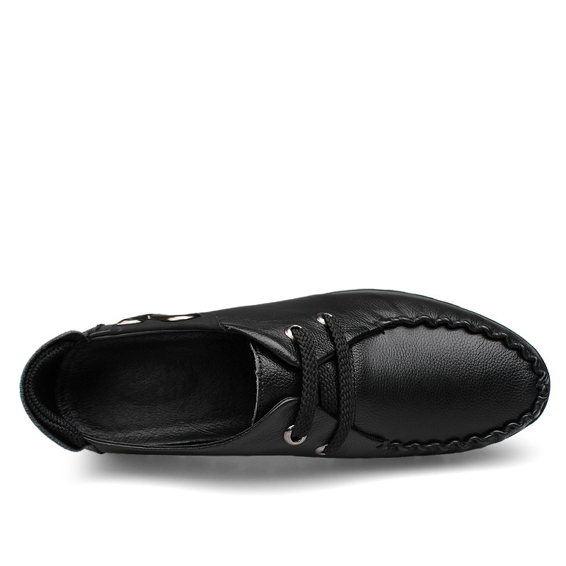 Handmade men shoes natural leather flats shoes Soft leather men loafers moccasin Plus size casual shoes men in Men 39 s Casual Shoes from Shoes