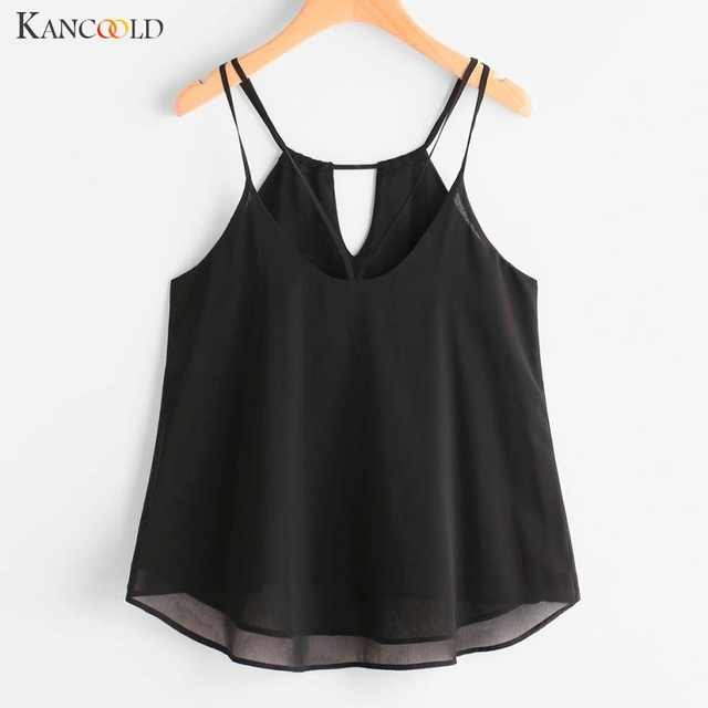 76dc57427a6d Women Chiffon Tank Tops Summer Strappy V-Neck Blouse Shirt Camis Girls  Comfortable Sleeveless Ethnic Style Vest Maay24