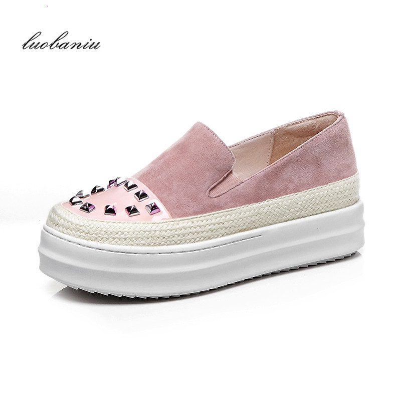 Cow Suede Creepers Wedges Shoes For Women High Heels Shoes Women Pumps Shoes Heels Platform Top Quality 684 suede shoes