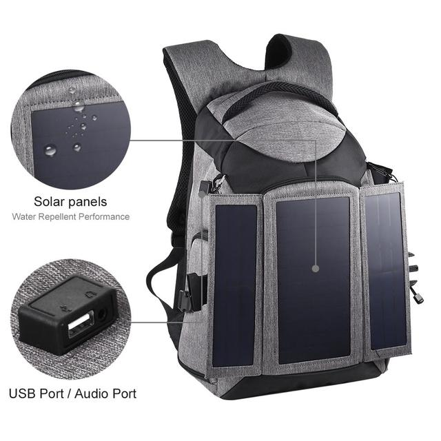 Professional Photographic Solar Backpack  4